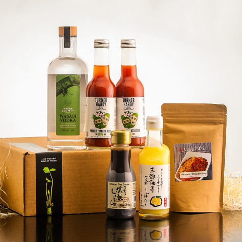 Wasabi Vodka Vegan Bloody Mary Cocktail Kit